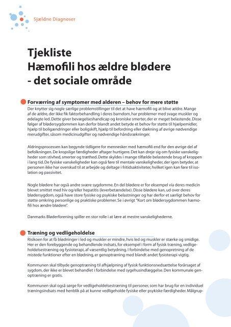 det sociale område - Danmarks Bløderforening.