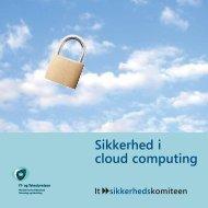 Sikkerhed i cloud computing - IT- og Telestyrelsen