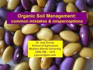 Organic Soil Management: - University of Missouri Extension