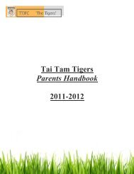 Tai Tam Tigers Parents Handbook 2011-2012 - DragonNet