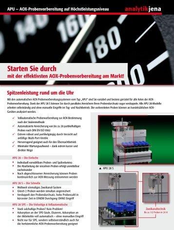 Flyer APU 28S - Analytik Jena AG