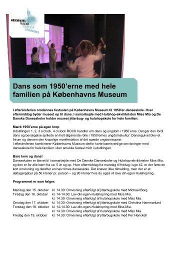 Dans som 1950'erne med hele familien på Københavns Museum