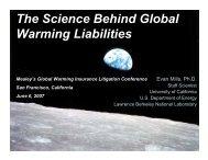 The Science Behind Global Warming Liabilities - Evan Mills ...