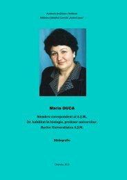 Maria DUCA - Biblioteca Ştiinţifică Centrală