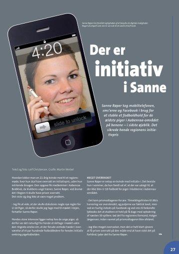 Der er initiativ i Sanne - Elbo