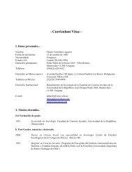 C.V completo - Facultad de Ciencias Sociales - Uruguay