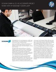 HP Designjet T2300ps eMFP| IT Case study | Schunk GmbH | HP