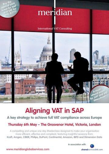 Aligning VAT in SAP - Meridian Global Services