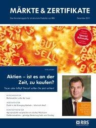 MÄRKTE & ZERTIFIKATE | Dezember 2011 - RBS