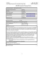 DICOM Correction Proposal Form