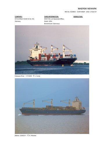 MAERSK NEWARK - Cargo Vessels International