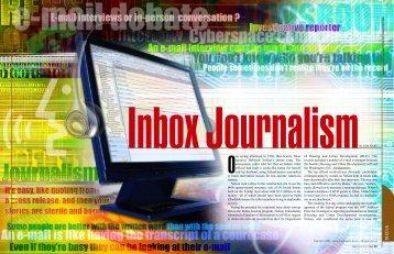 Inbox Journalism, SPAN May/June 2009 - SPAN Magazine