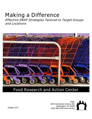 Making a Difference - Food Research and Action Center