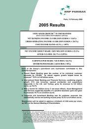 2005-Annual results-Press release - BNP Paribas