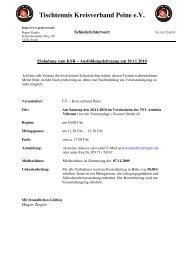 Tischtennis-KSR Einladung 2010 - Tischtennis-Kreisverband Peine ...
