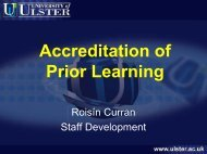Accreditation of Prior Learning