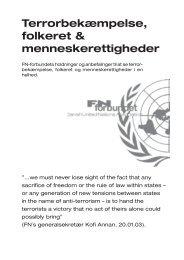 Terrorbekæmpelse, folkeret & menneskerettigheder - FN-forbundet