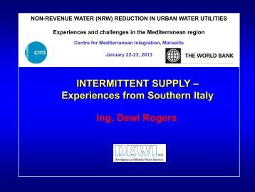 experiences from Southern Italy - CMI