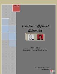 Robertson Copeland Scholarship - Liberty Online