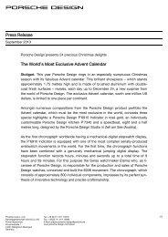 Press Release - Porsche Design