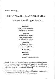 JEG SYNGER - JEG SKABER MIG