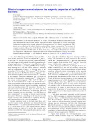 Effect of oxygen concentration on the magnetic properties of ...