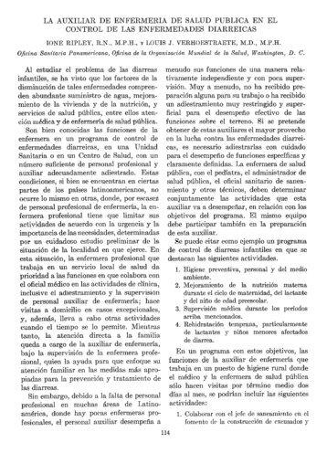 LA AUXILIAR DE ENFERMERIA DE SALUD PUBLICA ... - PAHO/WHO