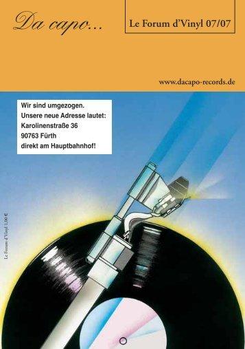 Le Forum d´Vinyl Ausgabe Juli 2007 - Da capo