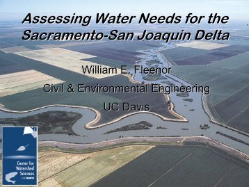 Environmental Flow Analyses for the Sacramento River – Bill Fleenor