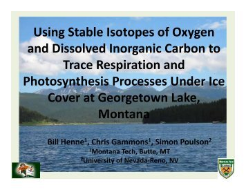 Using Stable Isotopes of Oxygen and Dissolved Inorganic Carbon to ...