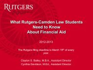 What You Need to Know About Financial Aid - Rutgers School of ...