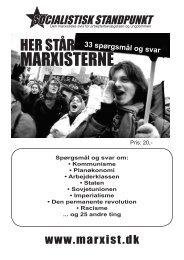 MARXISTERNE - Socialistisk Standpunkt
