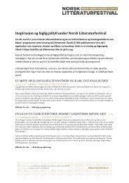 Inspirasjon og faglig påfyll under Norsk Litteraturfestival - Lillehammer