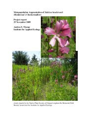 2009 report - Institute for Applied Ecology