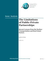 The Limitations of Public-Private Partnerships - Competitive ...