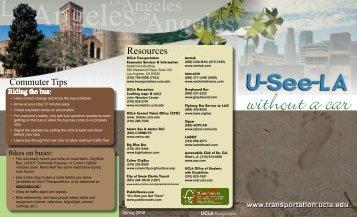 "UCLA ""U-See-LA Without a Car"" brochure (pdf)"