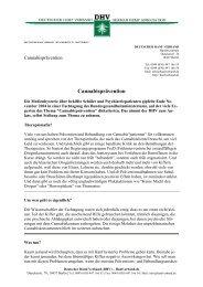 Cannabisprävention - des Deutschen Hanf Verband