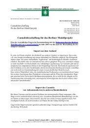 Cannabisbeschaffung für das Berliner Modellprojekt