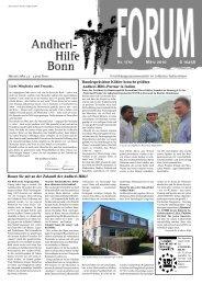 Die Krise als Chance - Andheri-Hilfe Bonn