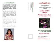 Caring for the Temple - Hamilton Square Baptist Church