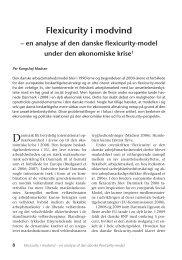 Flexicurity i modvind – en analyse af den danske ... - Nyt om Arbejdsliv
