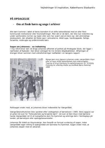 På opdagelse i arkiver.pdf - Københavns Stadsarkiv