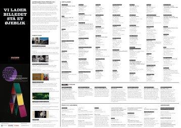 Program for Copenhagen Photo Festival 2013