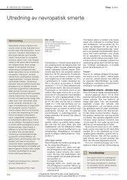 Tidsskrift for Den norske legeforening - Manuellterapi