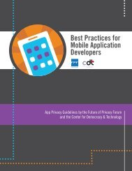 Best Practices for Mobile Application Developers - Center for ...