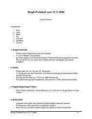 StugA-Protokoll vom 12.11.2009 - StugA Geowissenschaften der ...