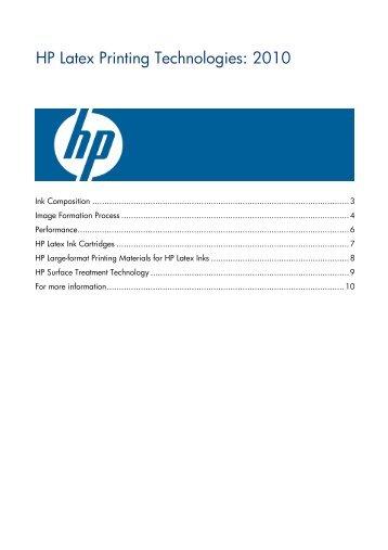 HP L25500 LATEX Printing Technologies ... - Regional Supply