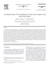 A numerical study of the contributions of dust source regions to the ...
