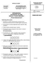 Sprawdzian dla uczniów klas VI szkół podstawowych ... - Interklasa