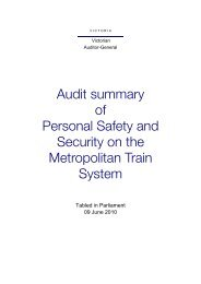 Personal Safety and Security on the Metropolitan Train System
